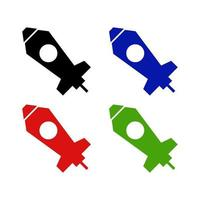 Missile Icon On Background vector