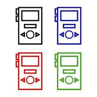 Mp3 Player Icon On Background vector