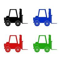 Forklift Icon On Background vector