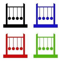 Newton Cradle Icon On Background vector