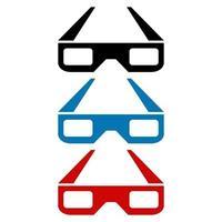 Cinema Glasses Icon On Background vector