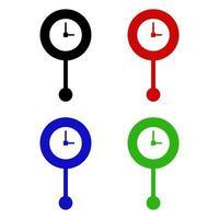 icono de reloj de péndulo en el fondo vector