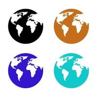icono del planeta tierra en el fondo vector