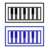 Piano Icon On Background vector