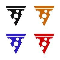 Pizza Icon On Background vector