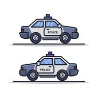 Police Car Icon On Background vector