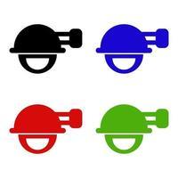 icono de sierra eléctrica en el fondo vector