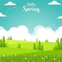 Hello Spring Background vector