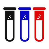 Test Tube Icon On Background vector