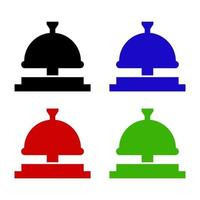 Service Bell Icon On Background vector