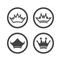 icono de vector de plantilla de logotipo de corona