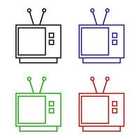 Television Icon On White Background vector