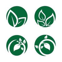 Ecology logo images illustration vector