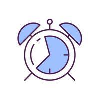 Alarm clock RGB color icon vector
