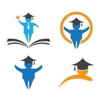 diseño de logotipo de educación vector