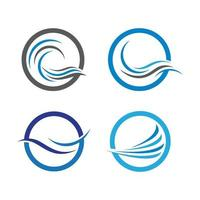 Water wave logo images vector