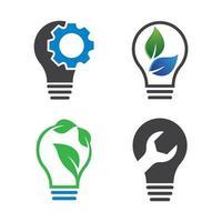 Lightbulb logo images vector