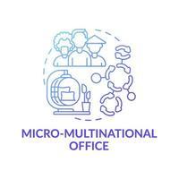 Micro-multinational office concept icon vector