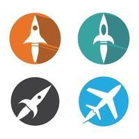 Rocket logo images vector