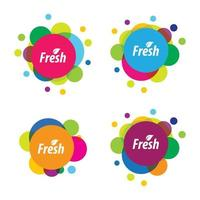Bubble colorful logo images vector