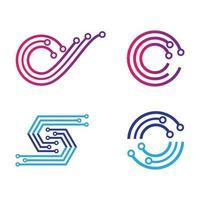 Technology logo images illustration vector