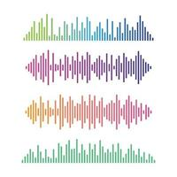 Sound wave images vector