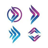 Arrow logo images vector