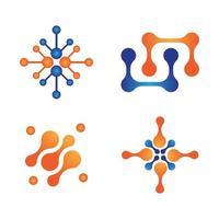 diseño de logotipo de molécula vector