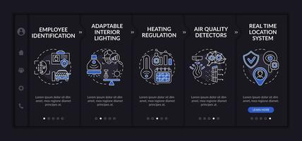 Futuristic smart worksite onboarding vector template