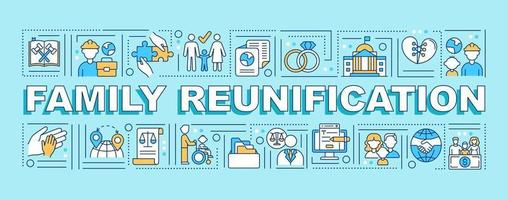 Family reunification word concepts banner vector