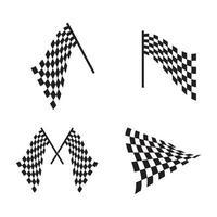 bandera carrera logo imágenes ilustración vector