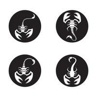 escorpión logo imágenes ilustración vector