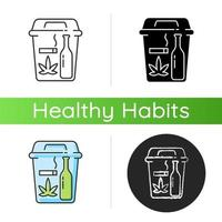 Quitting bad habits icon vector
