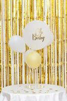 Baby shower concept with balloons photo