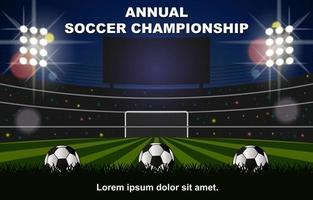 Annual Soccer Championship Background vector