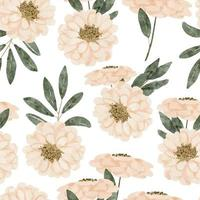 watercolor pastel color floral seamless pattern vector