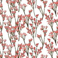 watercolor wildflower floral seamless pattern vector