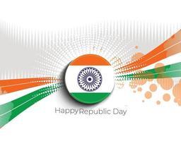 concepto del día de la república india con texto 26 de enero. vector
