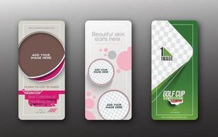 Golf Cup beauty salon fashion Header and Banner Vector Design
