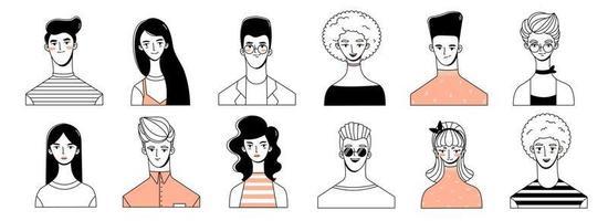 People Avatars on white background vector