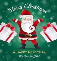 Santa Claus Merry Christmas vector