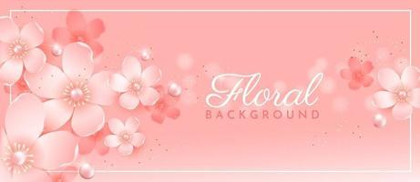 Background with flowers of a blossoming apple tree vector