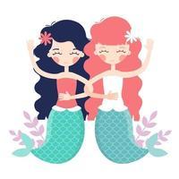 The Little Mermaids vector