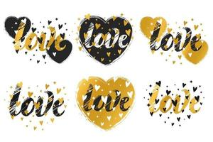 Prints with a heart vector