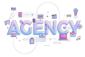 Business Word Agency vector