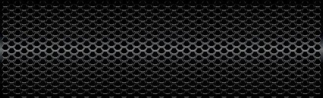 Black perforated iron with white reflections vector