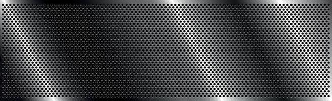 Silver perforated iron with white reflections vector