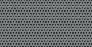 Gray perforated background, many of the same holes vector
