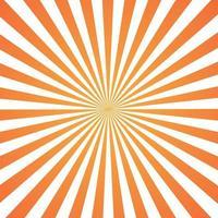 Imagen abstracta, rayos de sol naranja sobre un fondo blanco. vector