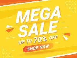 modern mega sale banner or background vector
